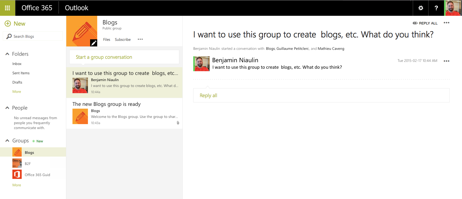 how to change conversation email in office 365