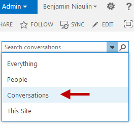 SharePoint 2013 Search Settings and the Search Box drop down menu