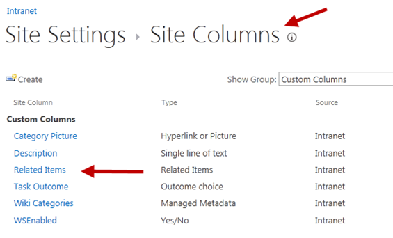 New SharePoint 2013 Column - Related Items