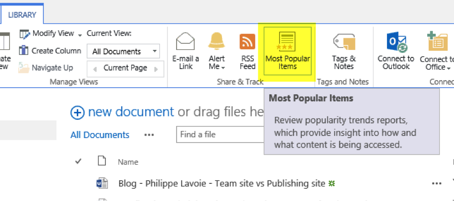 New SharePoint 2013 Analytics