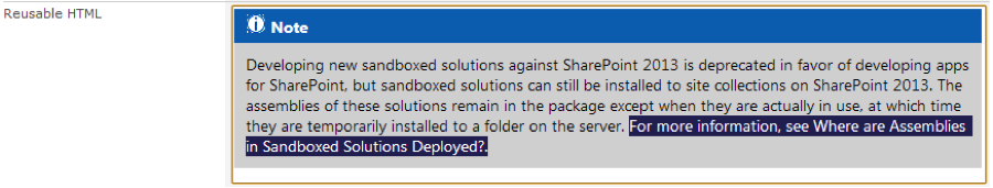 SharePoint Publishing Reusable Content
