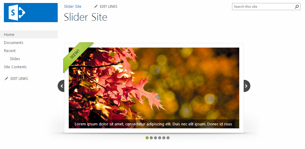 SharePoint 2013 image Slider with Search Results Web Part