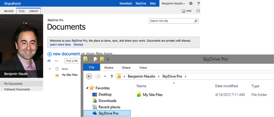 SharePoint 2013 SkyDrive Pro