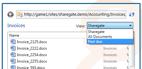 Filter with the SharePoint views