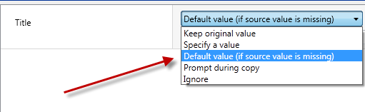 Property template default value option