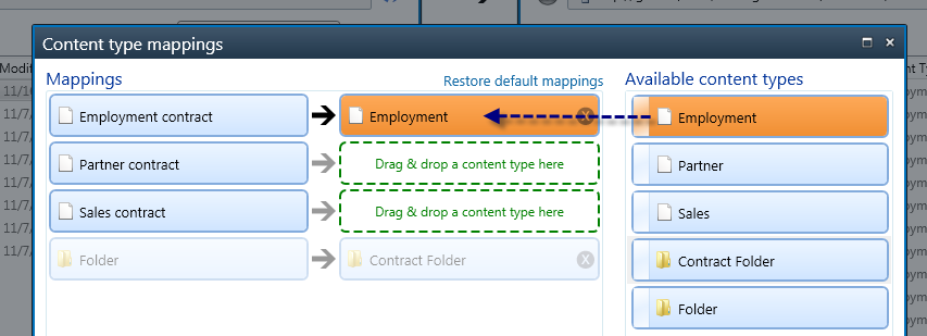 Remap content types