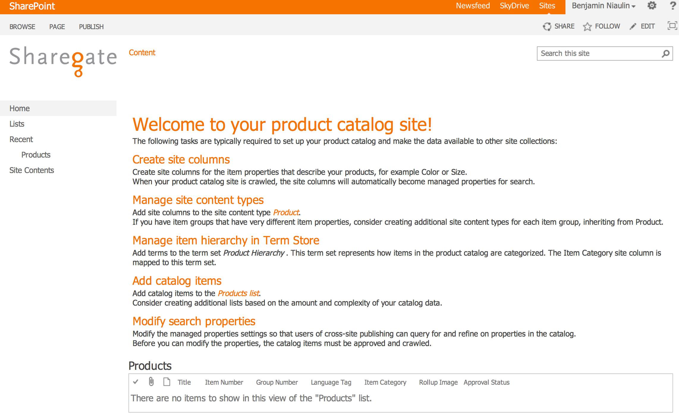 SharePoint 2013 Product Catalog - Sharegate