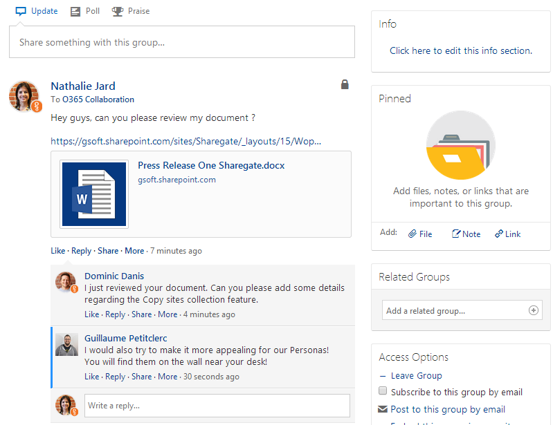 How do sharepoint and yammer work together sharegate - Yammer office 365 integration ...