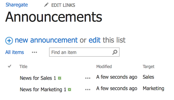 Target content SharePoint filter search