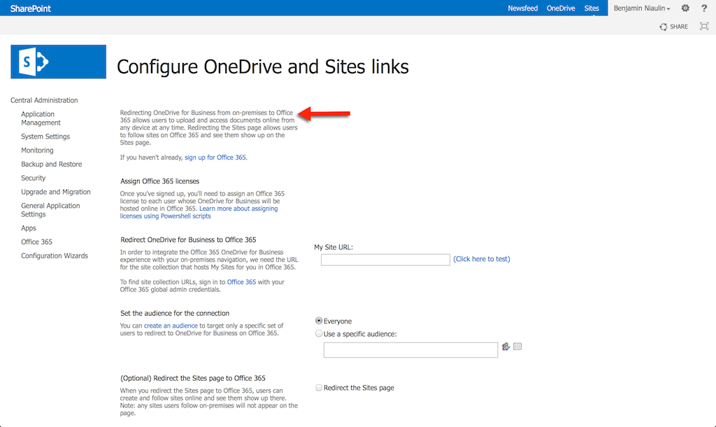 Redirect SharePoint to Office 365 Migration