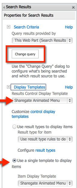 SharePoint 2013 Search Display Template Animated Menu