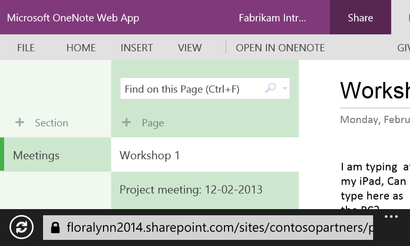 SharePoint Office 365 on Any Device with OneNote