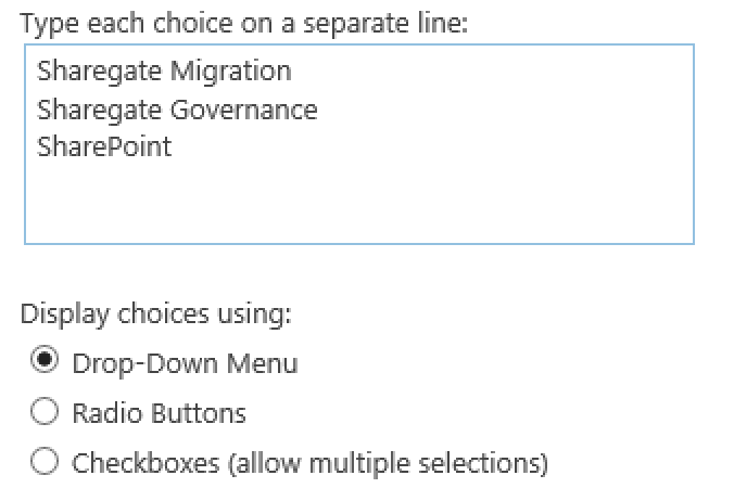 Sharegate SharePoint Migration Choice History