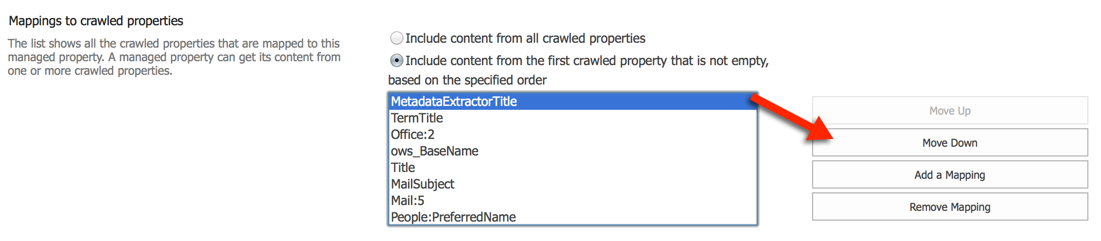 Understand SharePoint Crawled and Managed properties for search