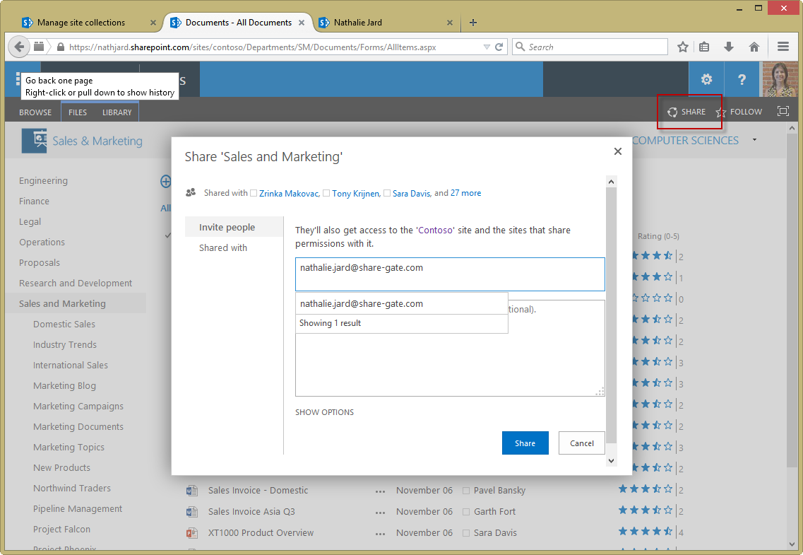 How to deal with Office 365 External Sharing