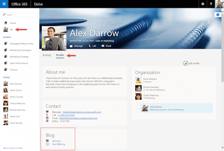 Office 365 Delve Blogs Explained