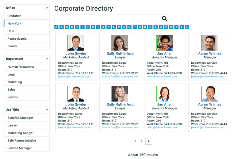 Build a corporate directory with sharepoint search sharegate for Free church photo directory template