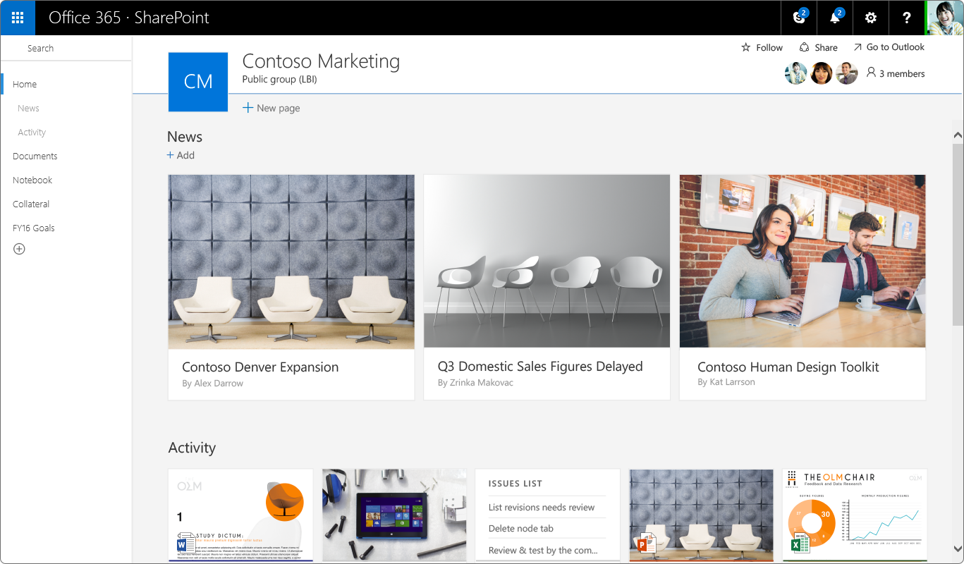 New SharePoint Team Sites