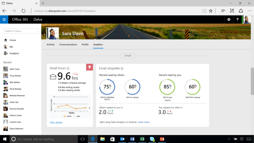 Track user activity and email habits within Office 365