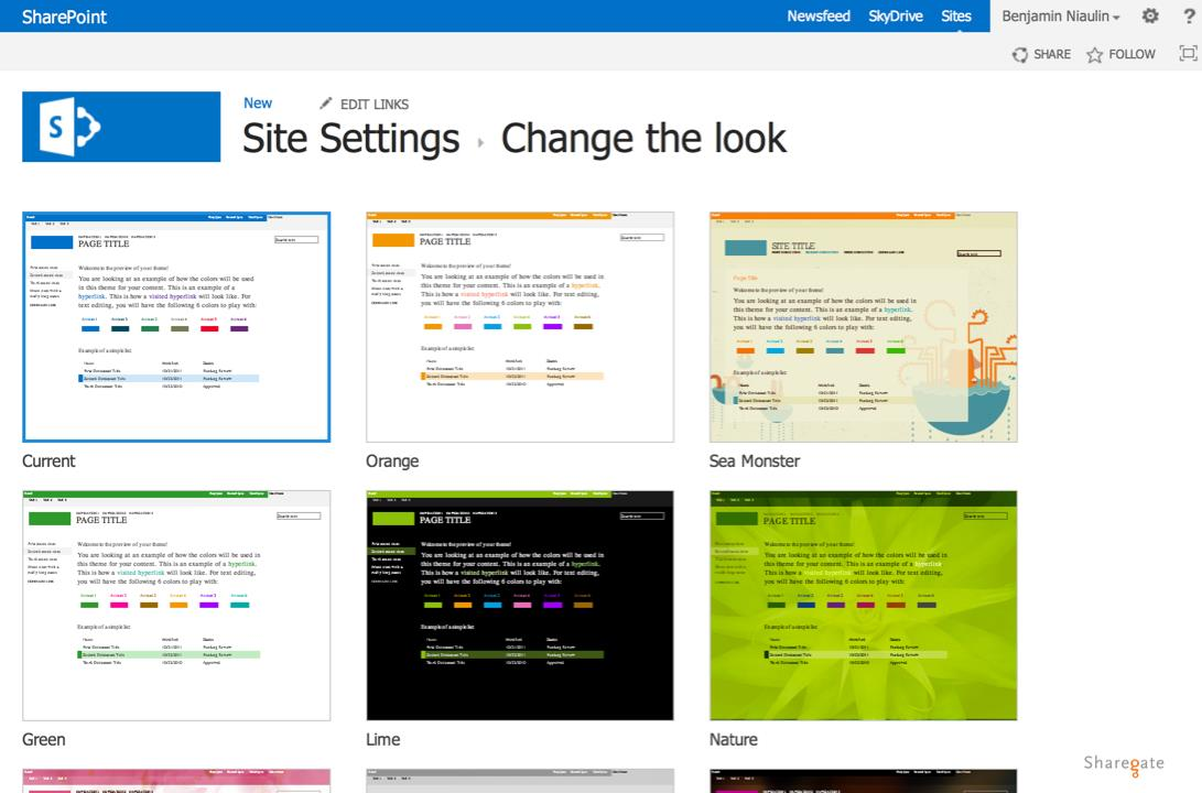 change the look of your sharepoint site - Sharepoint Design Ideas