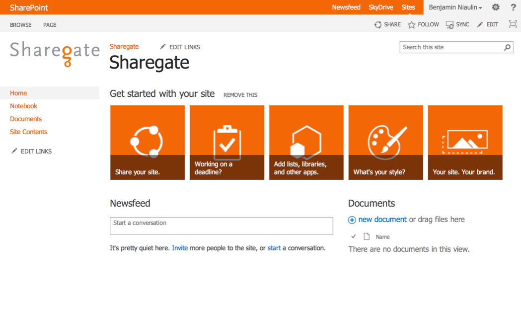 Design Sharepoint Home Page