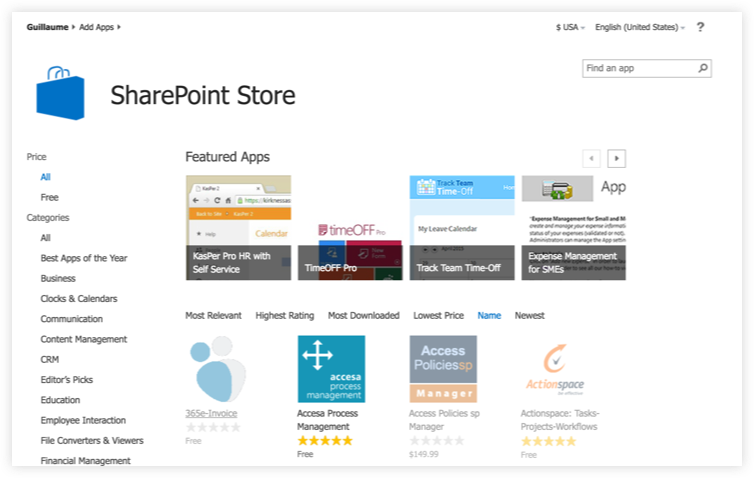 SharePoint 2013 App Store