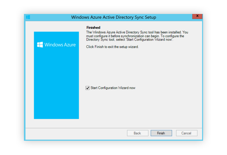 Windows Azure Sync Setup Finished