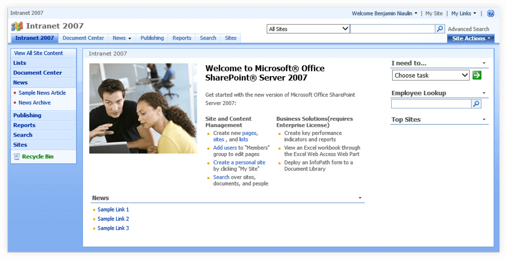 sharepoint 2007 templates