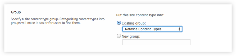 Name Content Type in SharePoint