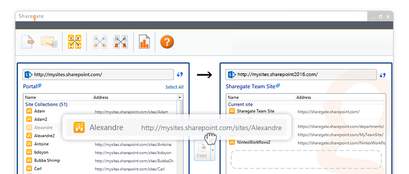 Content migration to SharePoint 2016 with Sharegate