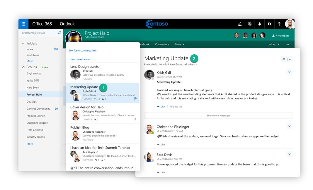 Exchange Mailbox Conversations Office 365 Groups