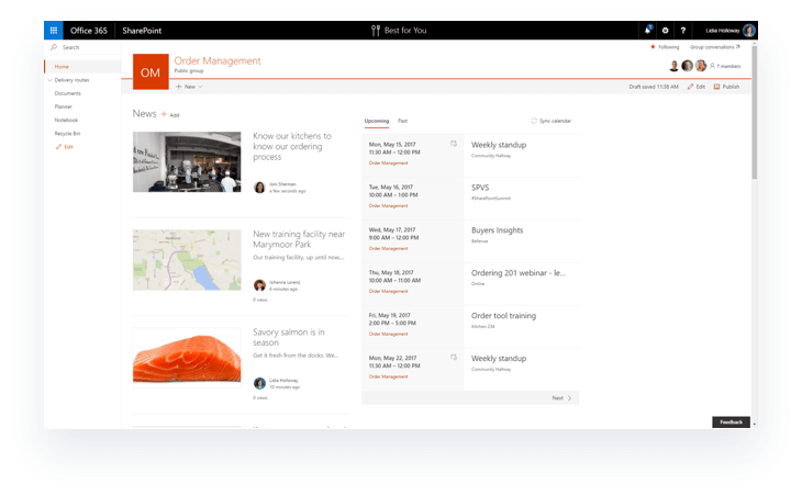 Office 365 Groups Navigation in SharePoint pages