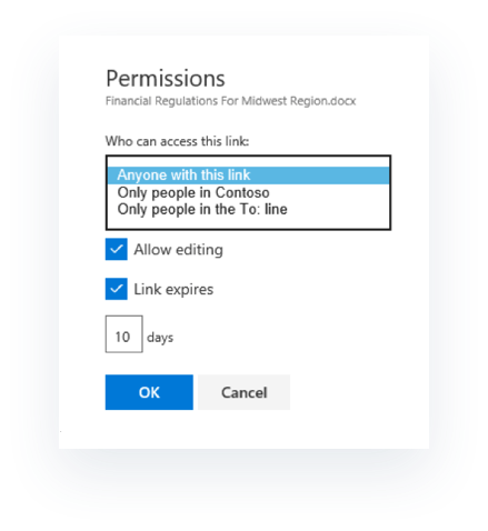 Editing document permissions in OneDrive for Business