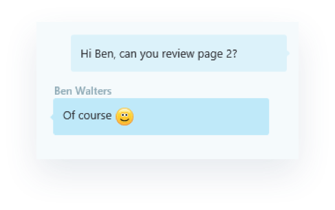 Chat powered by Skype for Business in OneDrive for Business