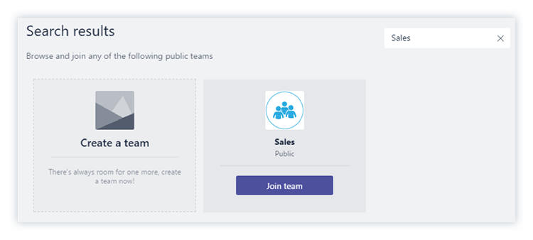 Create or add a team in Microsoft Teams